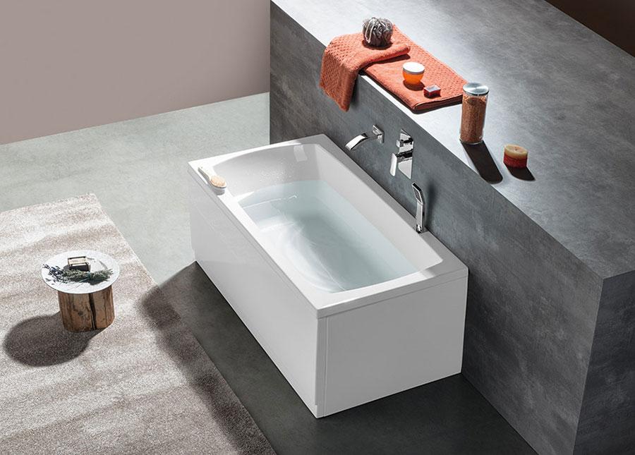 Modello di vasca da bagno piccola da 120 cm n.01