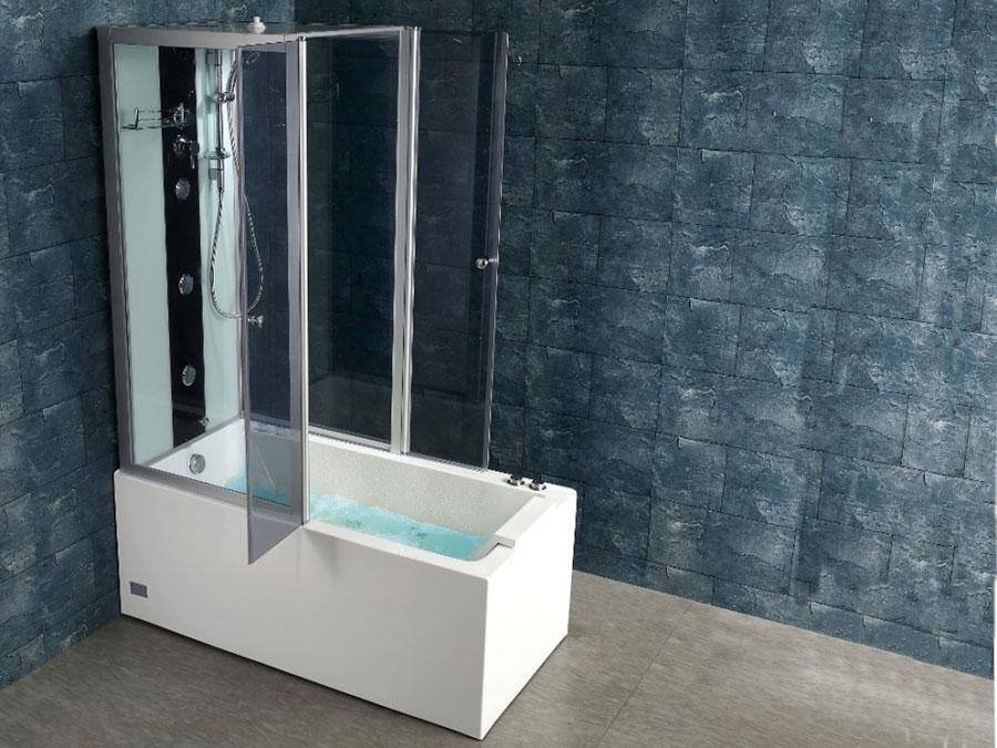 Modello di vasca da bagno piccola con box doccia n.01