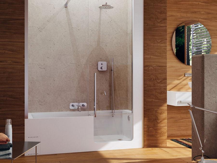 Modello di vasca da bagno piccola con box doccia n.03