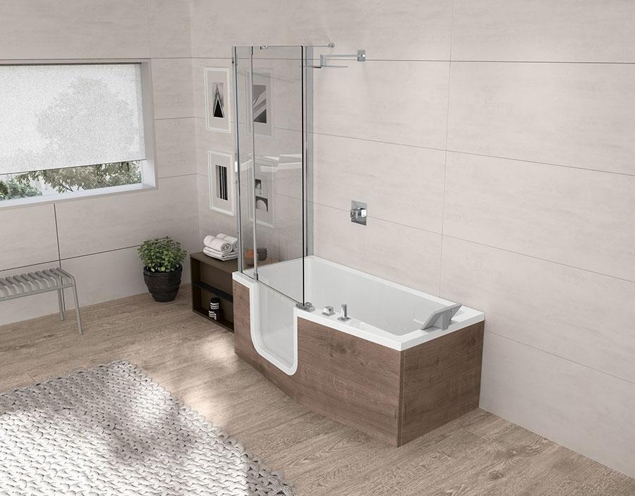 Modello di vasca da bagno piccola con box doccia n.05