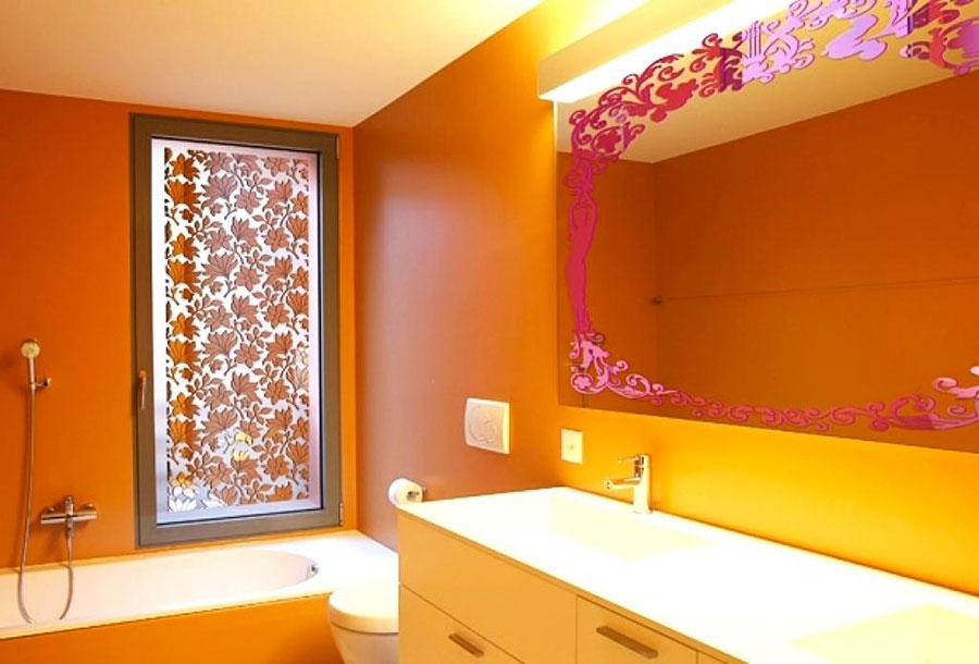 Idee per utilizzare il colore ambra in bagno n.02