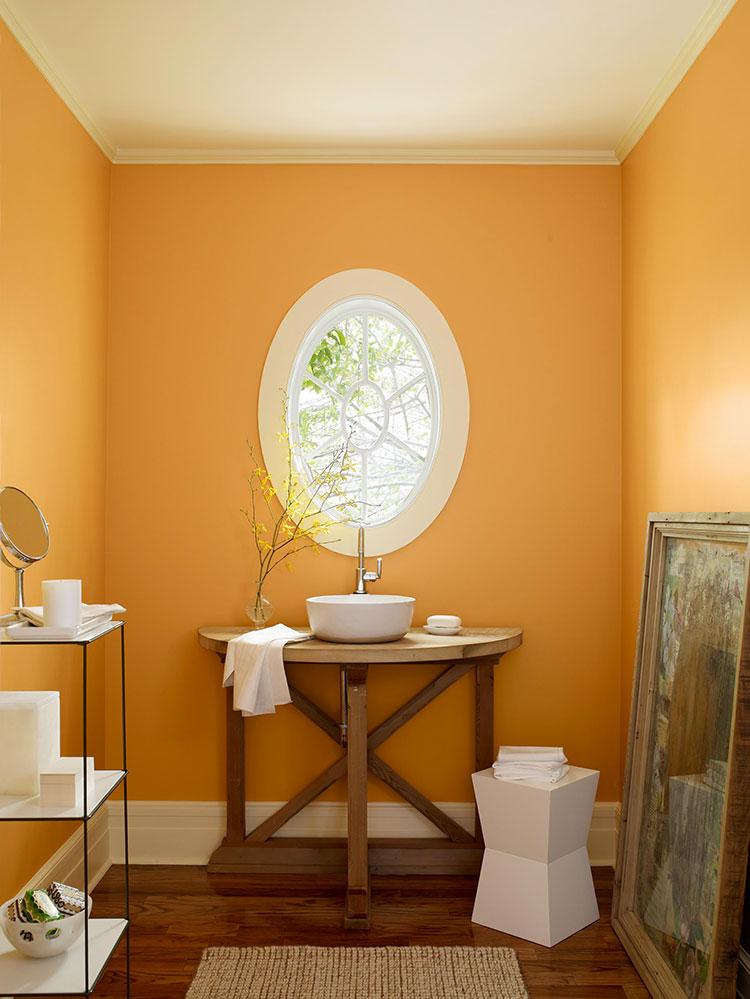 Idee per utilizzare il colore ambra in bagno n.01