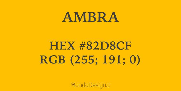 Identificazione codice colore ambra