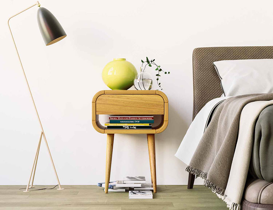 Modello di comodino vintage di Oak Design Studio n.01