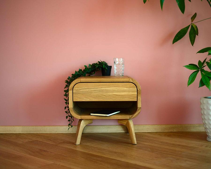 Modello di comodino vintage di Oak Design Studio n.04
