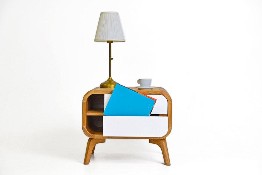 Modello di comodino vintage di Oak Design Studio n.05