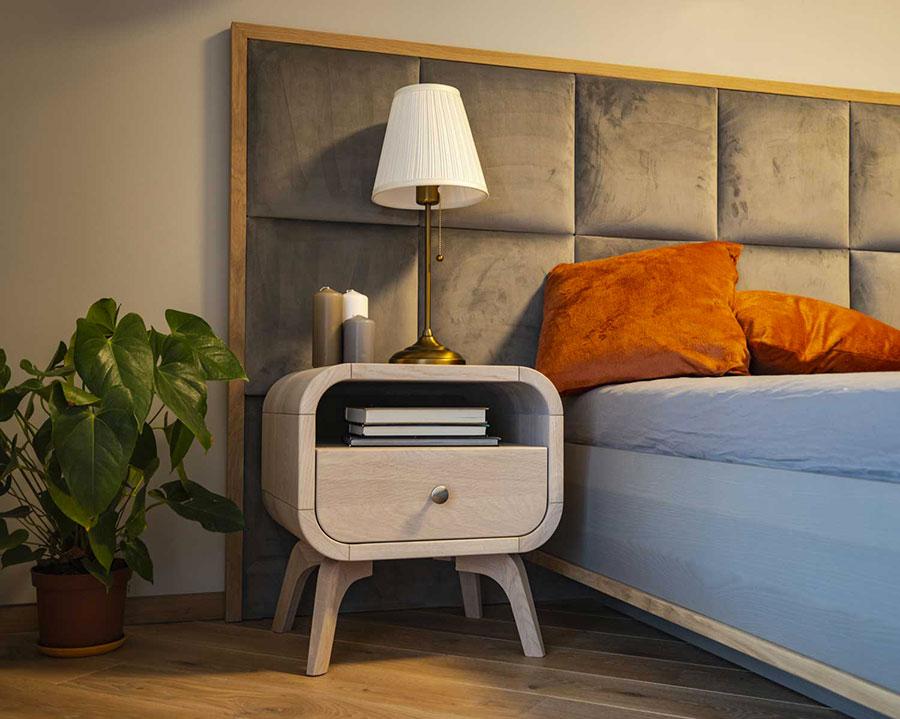 Modello di comodino vintage di Oak Design Studio n.08
