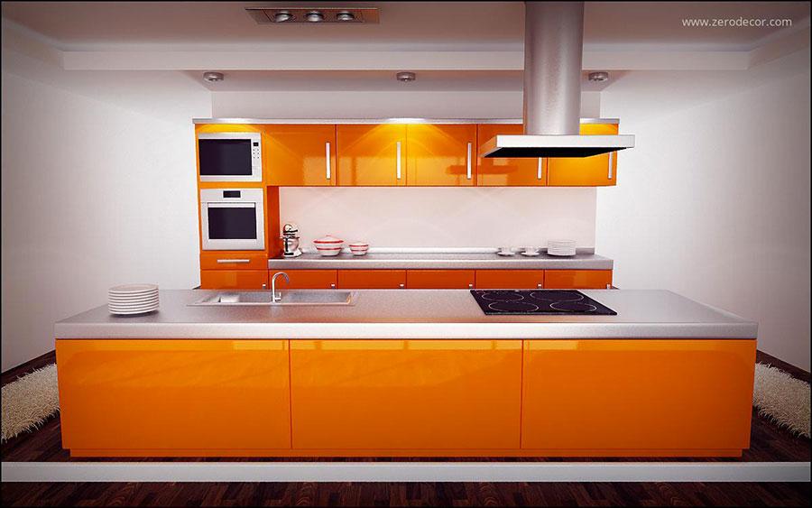 Idee per utilizzare il colore ambra in cucina n.01