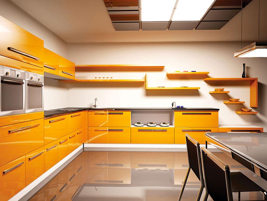 Idee per utilizzare il colore ambra in cucina n.03