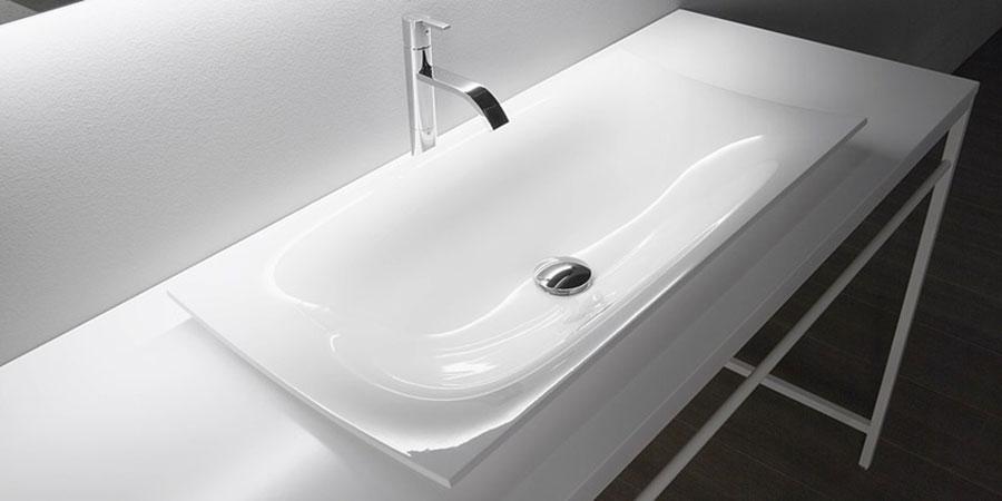Modello di lavabo da appoggio rettangolare di Antonio Lupi n.02