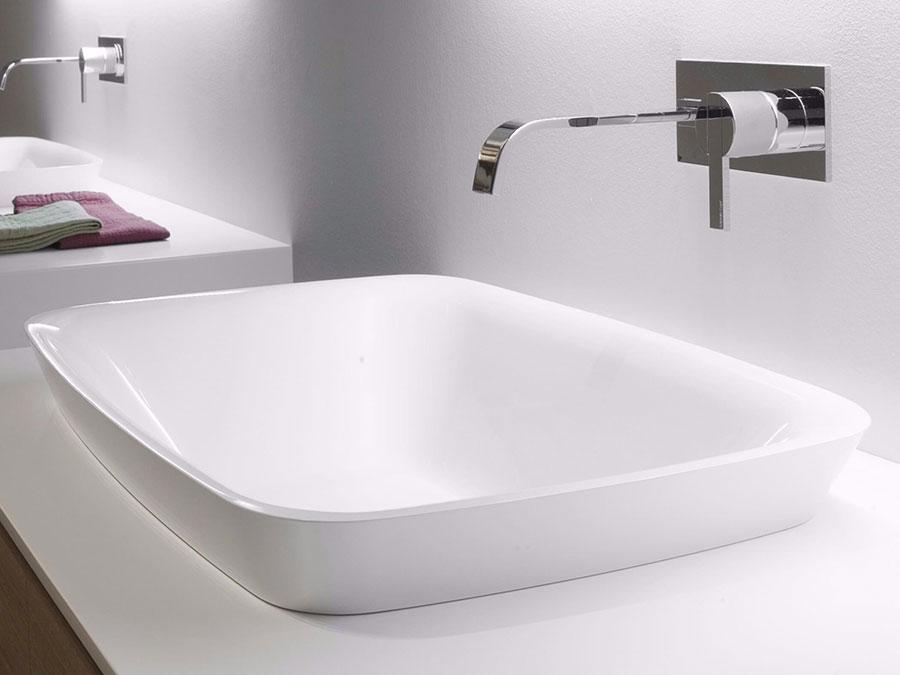 Modello di lavabo da appoggio rettangolare di Antonio Lupi n.04