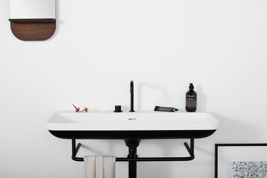 Modello di lavabo da appoggio rettangolare di Not Only White n.03