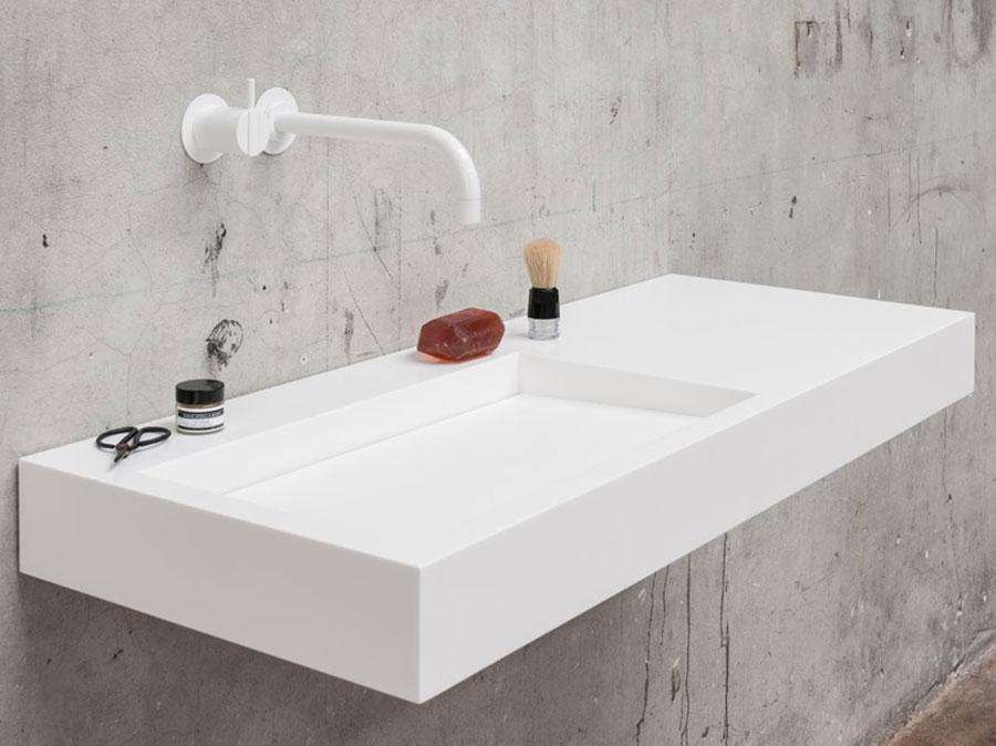 Modello di lavabo da appoggio rettangolare di Not Only White n.04