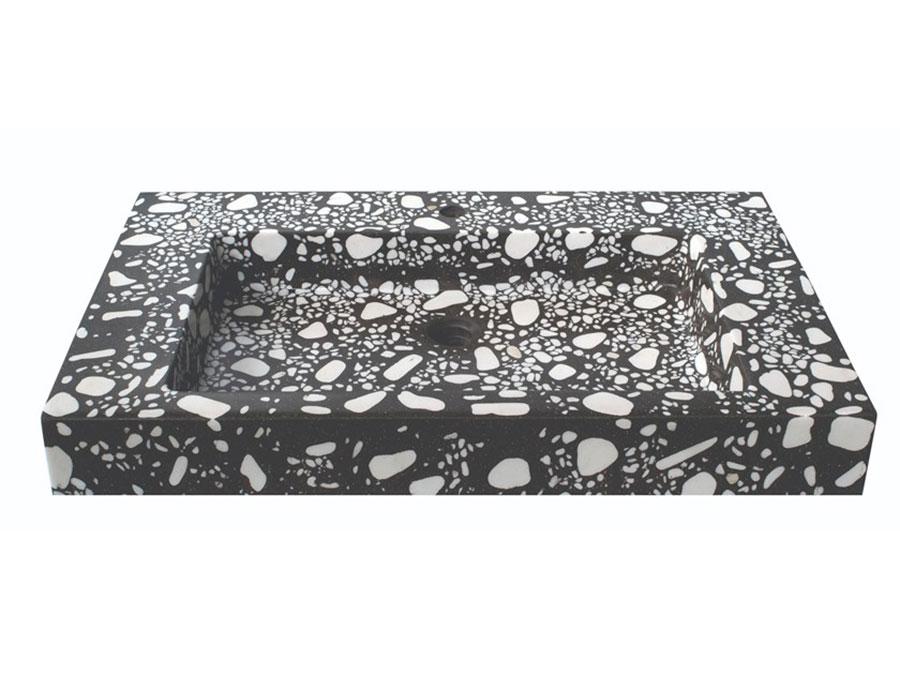 Modello di lavabo da appoggio rettangolare di URBI et ORBI n.01