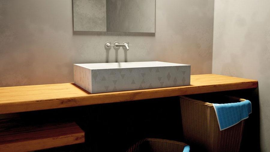 Modello di lavabo da appoggio rettangolare di URBI et ORBI n.02