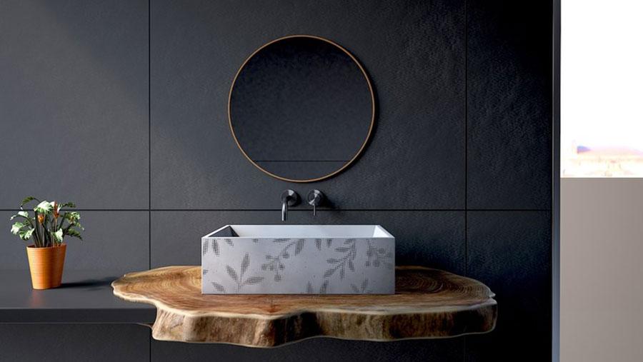 Modello di lavabo da appoggio rettangolare di URBI et ORBI n.03