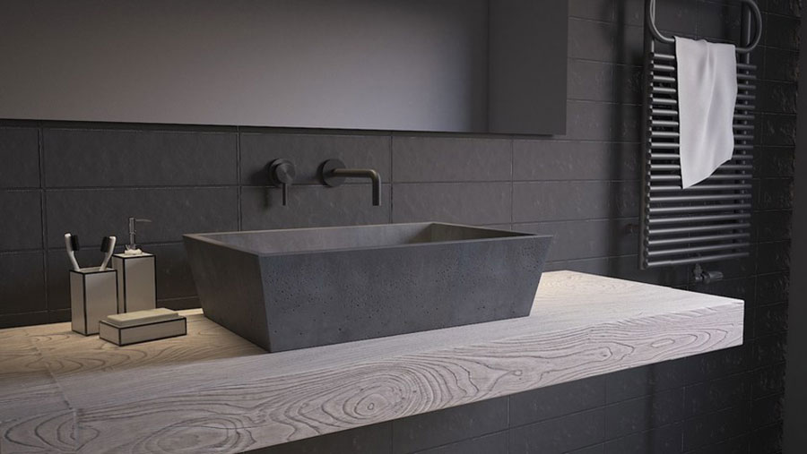 Modello di lavabo da appoggio rettangolare di URBI et ORBI n.05