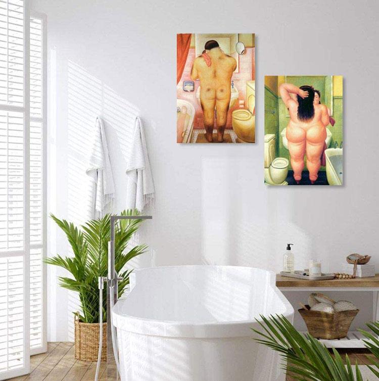 Modello di quadro per bagno classico n.02