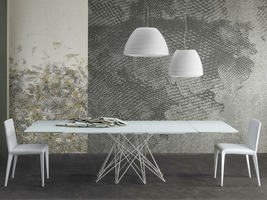 Modello di tavolo in cristallo allungabile n.03