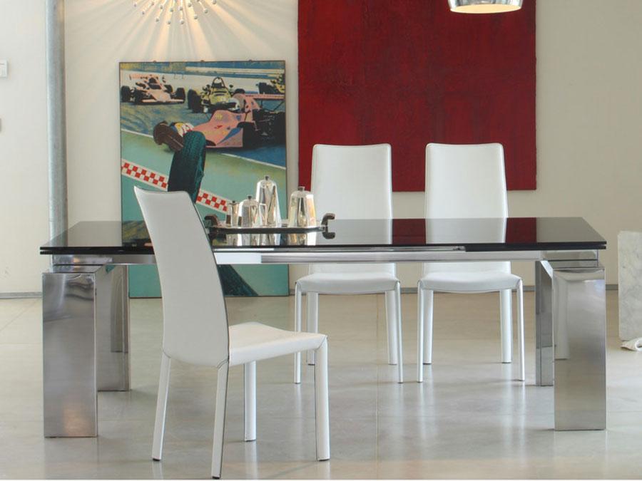 Modello di tavolo in cristallo allungabile n.04