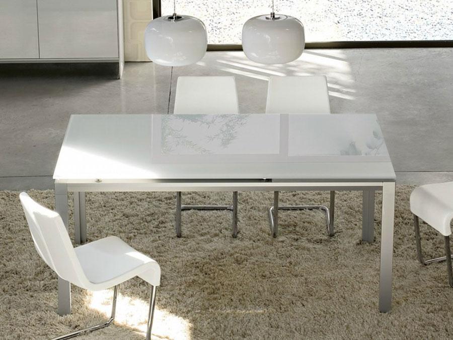 Modello di tavolo in cristallo allungabile n.05
