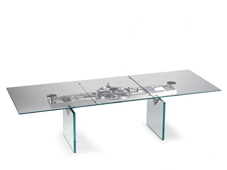Modello di tavolo in cristallo allungabile n.07