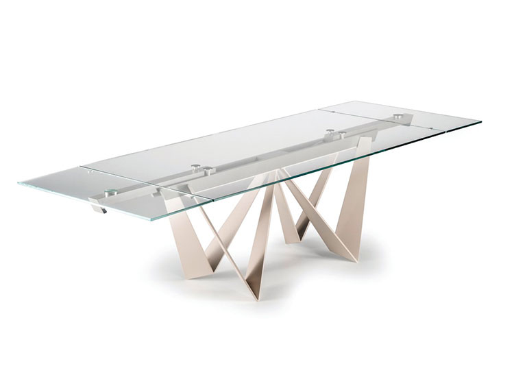 Modello di tavolo in cristallo allungabile n.08