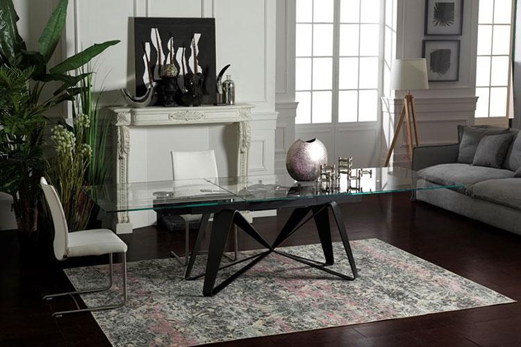 Modello di tavolo in cristallo allungabile n.09