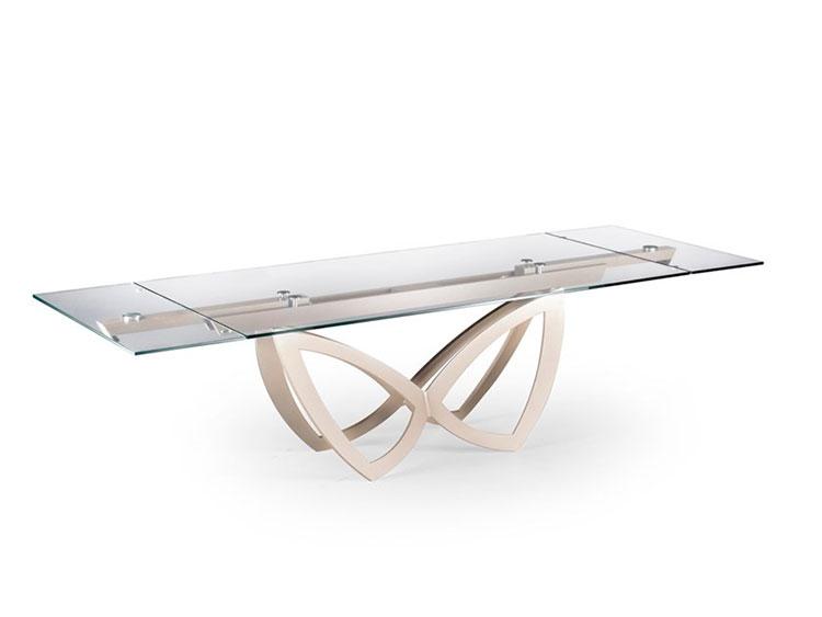 Modello di tavolo in cristallo allungabile n.10