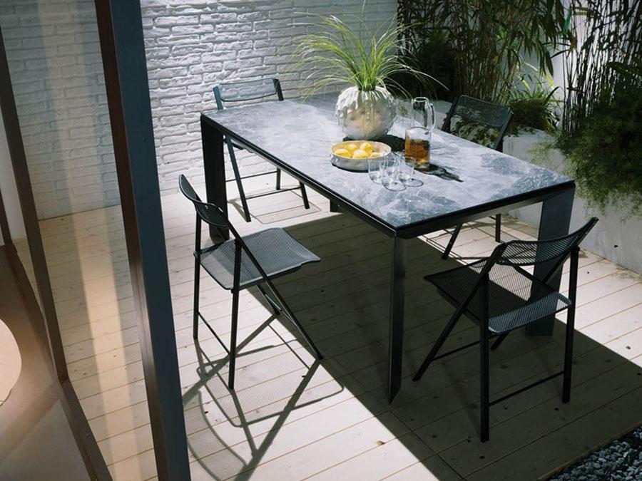 Modello di tavolo in cristallo allungabile n.13