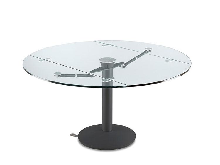 Modello di tavolo in cristallo rotondo n.01