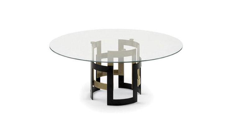Modello di tavolo in cristallo rotondo n.07