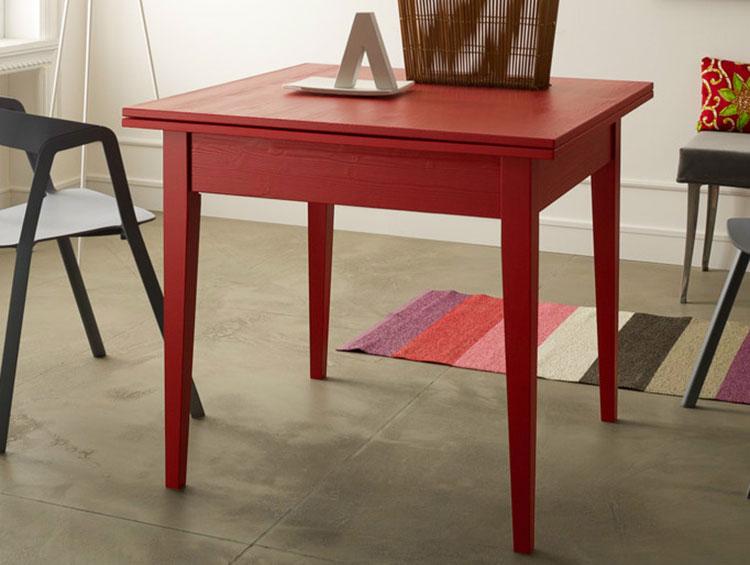 Modello di tavolo quadrato allungabile a libro n.04