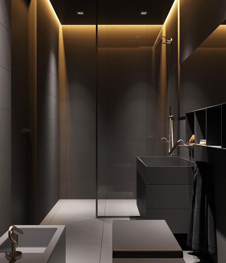 Idee per il bagno colore antracite n.02