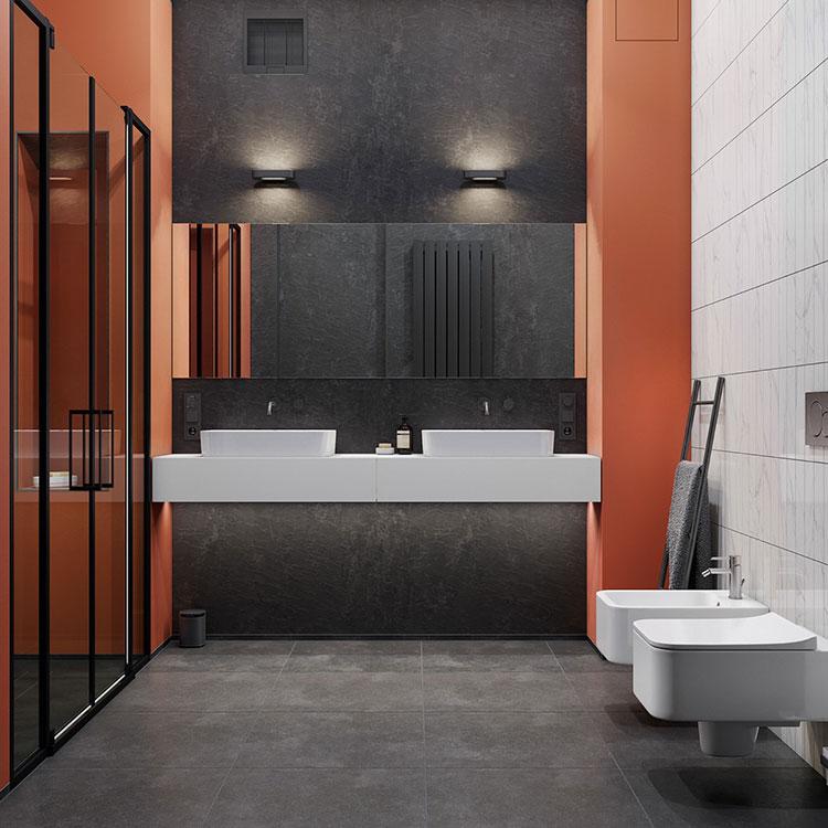 Idee per il bagno colore antracite n.03