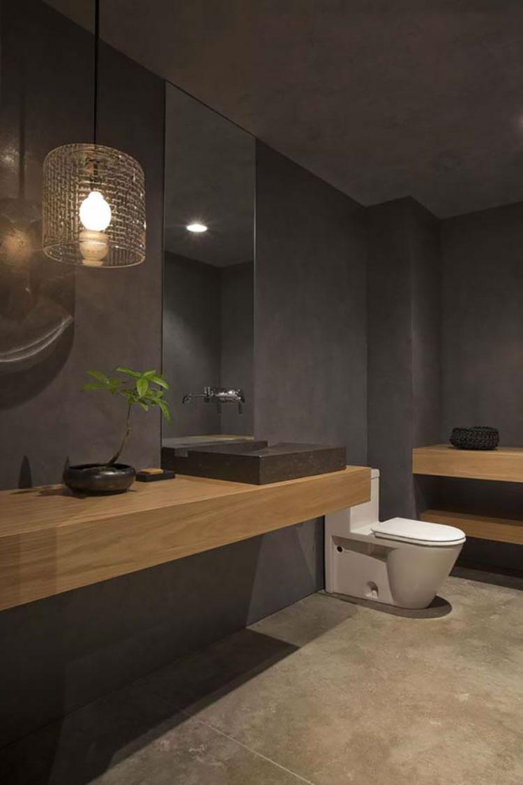 Idee per il bagno colore antracite n.04