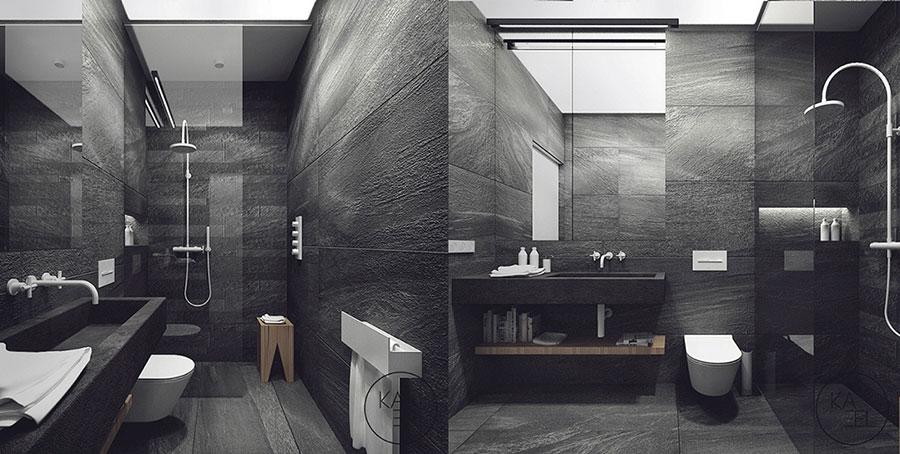 Idee per il bagno colore antracite n.05