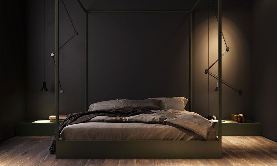 Idee per la camera da letto colore antracite n.01