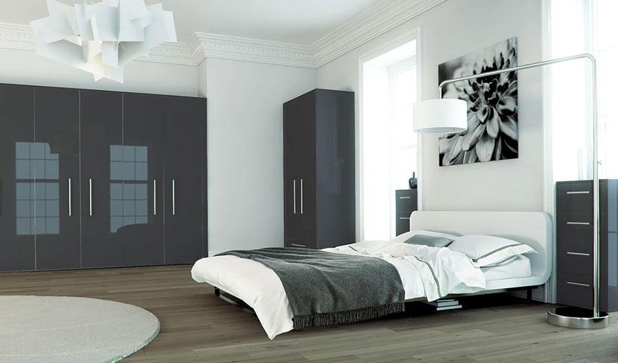 Idee per la camera da letto colore antracite n.02