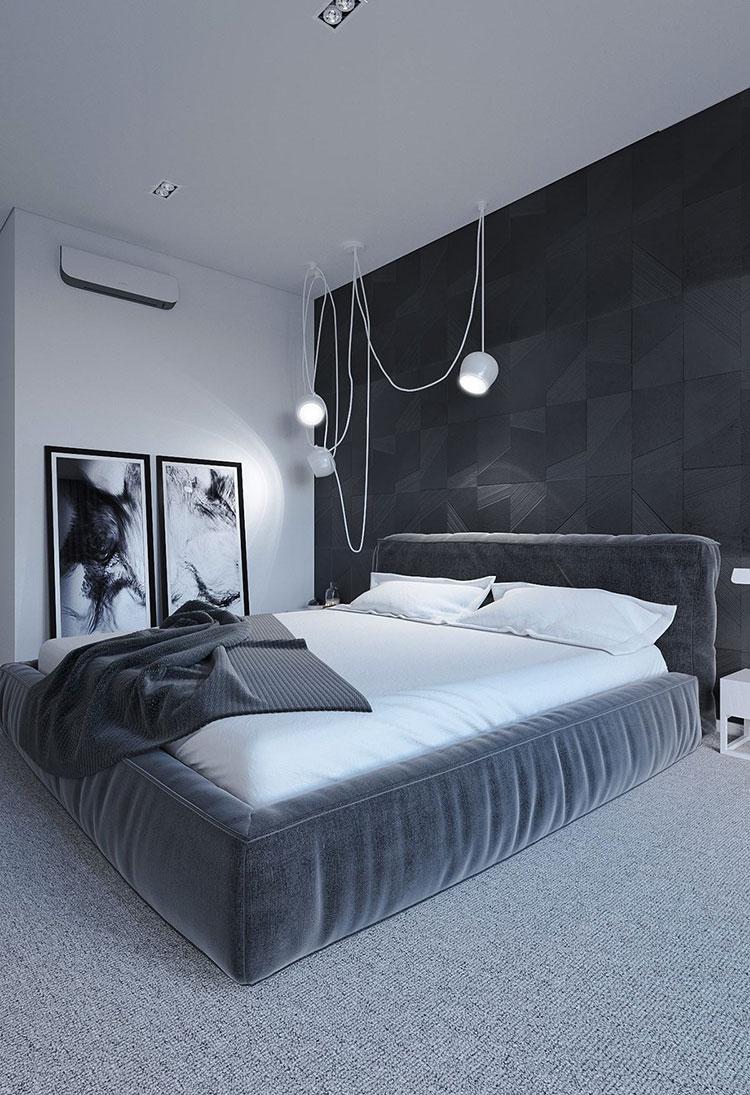 Idee per la camera da letto colore antracite n.03