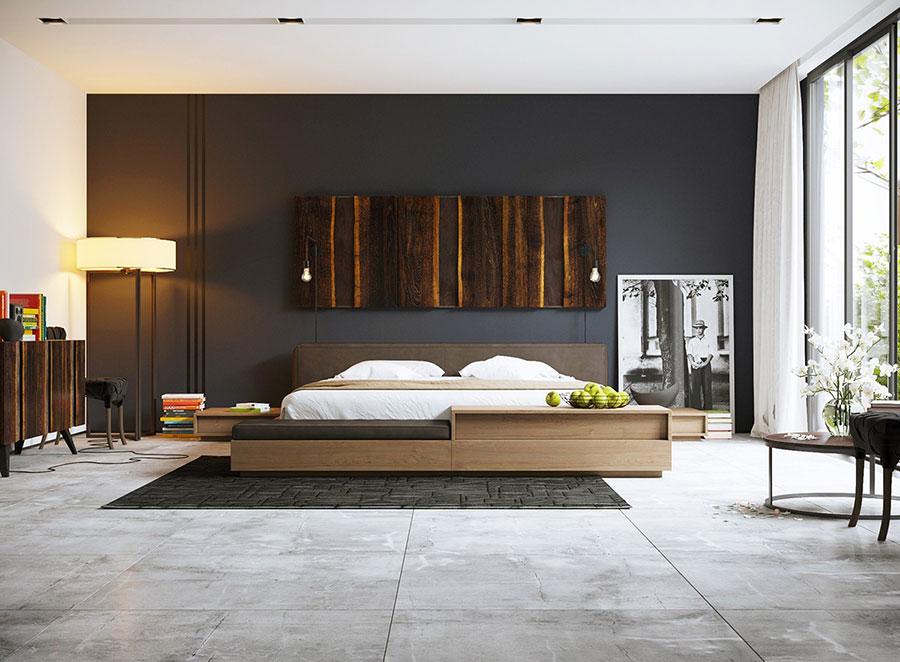 Idee per la camera da letto colore antracite n.04