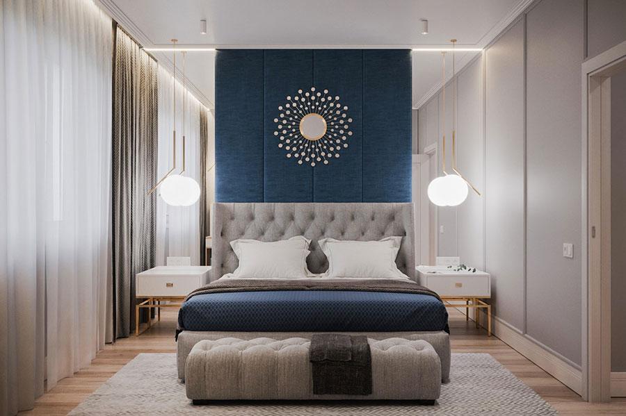 Idee per decorare la parete dietro al letto con gli accessori n.02