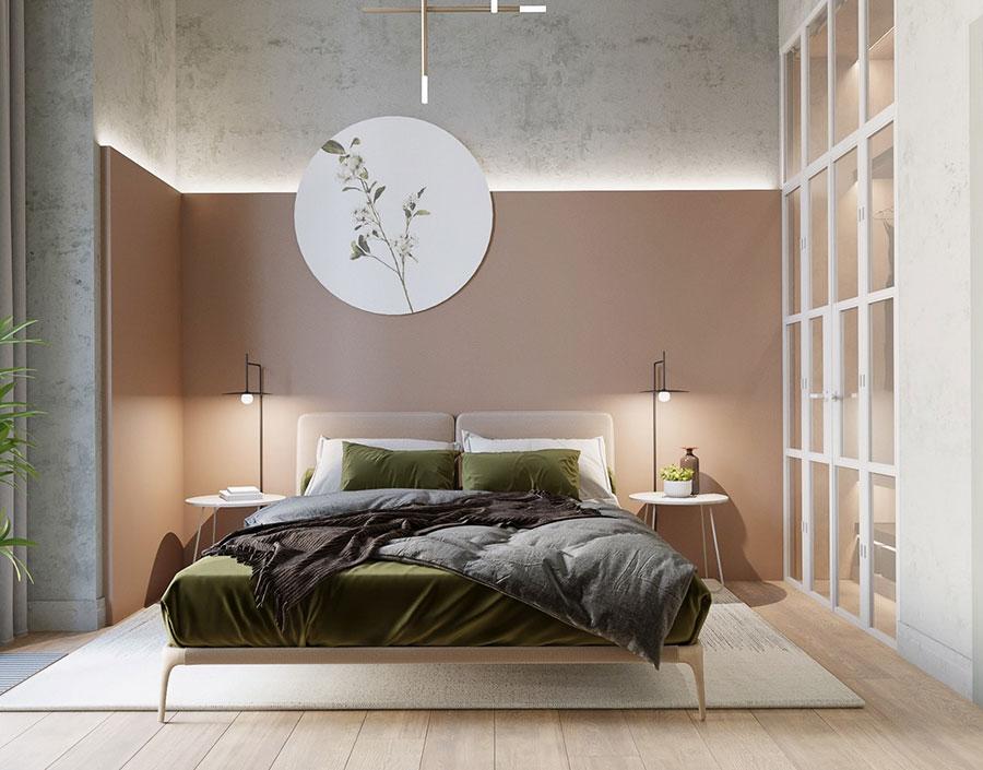 Idee per decorare la parete dietro al letto con gli accessori n.04