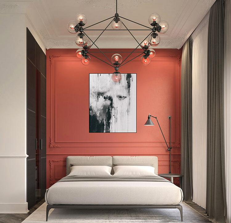 Idee per decorare la parete dietro al letto con la boiserie n.04