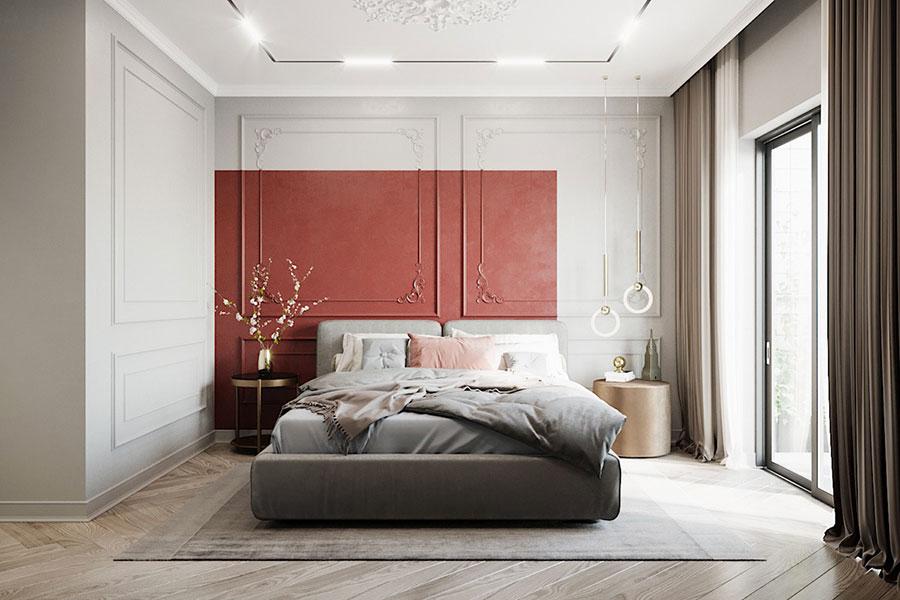 Idee per decorare la parete dietro al letto con i colori n.02
