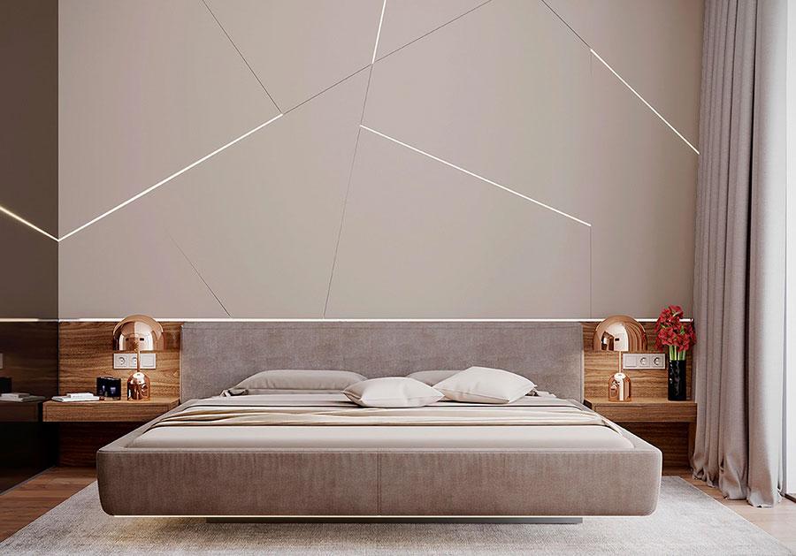 Idee per decorare la parete dietro al letto con le luci n.02