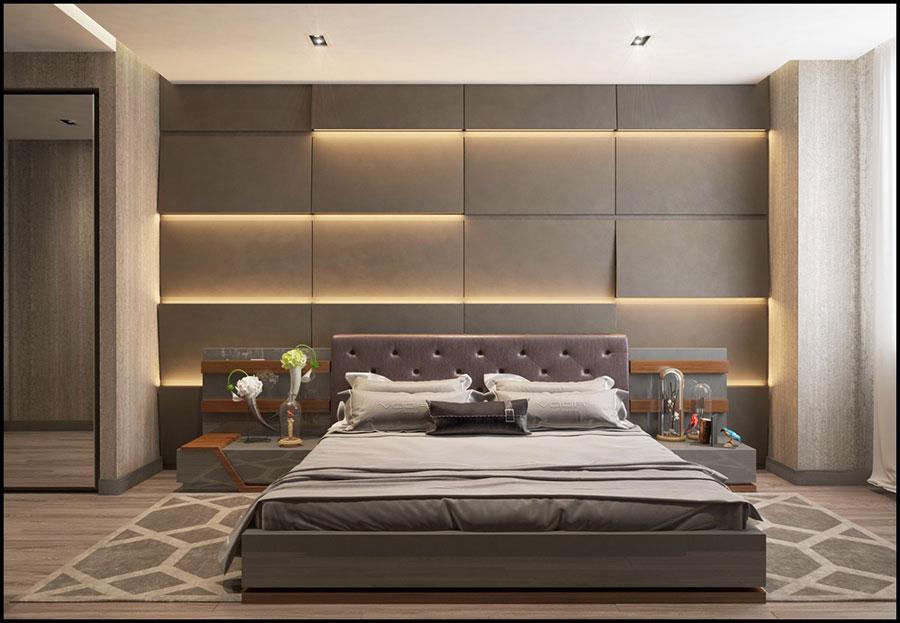 Idee per decorare la parete dietro al letto con le luci n.03