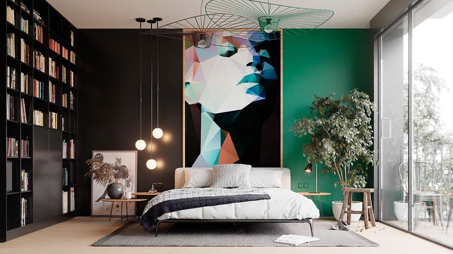 Idee per decorare la parete dietro al letto con i quadri n.01