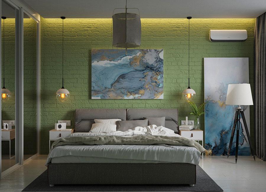 Idee per decorare la parete dietro al letto con i quadri n.02