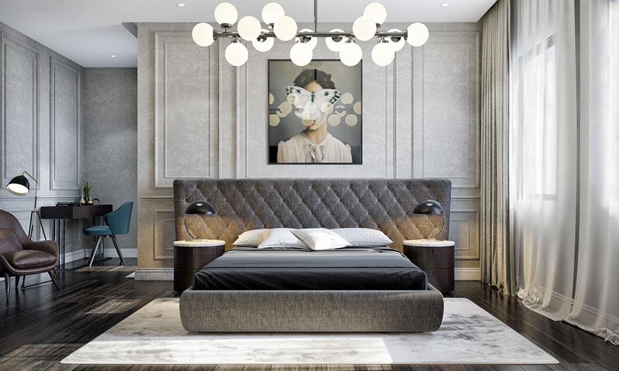 Idee per decorare la parete dietro al letto con i quadri n.03